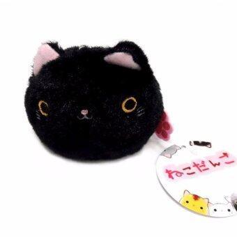 Tanko neko plush keychain พวงกุญแจ แมวถุงถั่ว แมวดำ