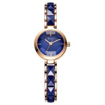 Kimio นาฬิกาข้อมือผู้หญิง สาย Alloy สีน้ำเงิน/โรสด์โกล์ด รุ่น KW6120