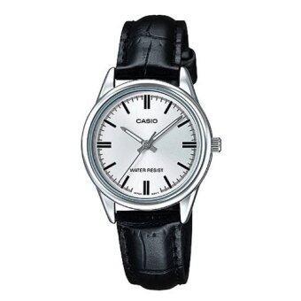 Casio นาฬิกาข้อมือ ผู้หญิง สายหนัง สีดำ รุ่น LTP-V005L-7AUDF