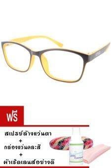 Kuker กรอบแว่นตา New Eyewear+เลนส์สายตาสั้น ( -625 ) กันแสงคอมและมือถือ-รุ่น 88241(สีดำ/ส้ม)แถมฟรี สเปรย์ล้างแว่นตา+กล่องแว่นคละสี+ผ้าเช็ดแว่น
