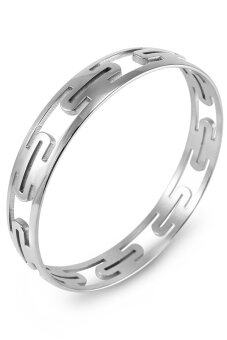 555jewelry กำไลสำหรับสุภาพบุรุษและสุภาพสตรี รุ่น FSBG126-A (สี Steel)