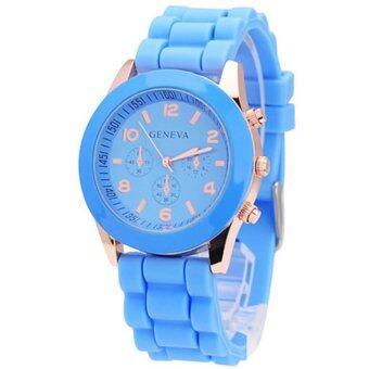 Geneva Colorful นาฬิกาข้อมือผู้หญิง สีฟ้า สายซิลิโคน รุ่น GNV-595