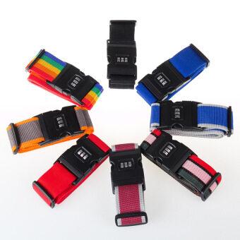TravelGear24 สายรัดกระเป๋าเดินทาง พร้อมรหัสล็อก Travel Luggage Belt Suitcase Strap - แดงเทา/Red-Grey (image 1)