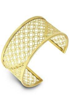 555jewelry กำไลสำหรับสุภาพสตรี รุ่น FSBG120-B ( Yellow Gold )