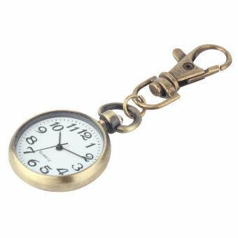 โอ้เรโทรบรอนซ์ระบบควอตซ์นาฬิกาพวงกุญแจ (เงิน)