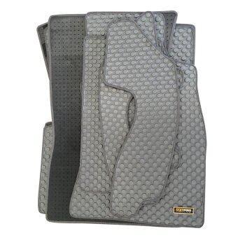 Matpro พรมปูพื้นเข้ารูป 100% ลายกระดุม ชุด Standard Set 7 ชิ้น รุ่น TOYOTA VIGO CAB 2013 (Grey)
