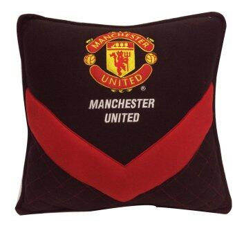 Manchester United หมอนผ้าห่ม 2 in 1 Man U Brave V (สีดำแดง)