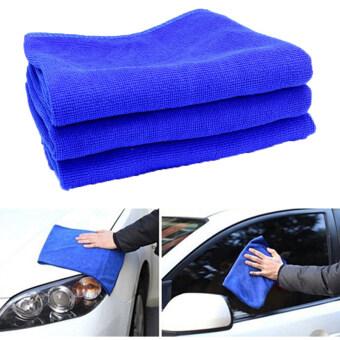 DTG ผ้าเช็ดรถ ขนาด30x70cm ผ้าอเนกประสงค์ ผ้าขนหนูไมโครไฟเบอร์ จำนวน 3 ชิ้น- สีน้ำเงิน