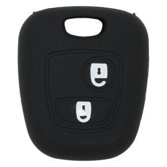 CV7300BK Silicone Cover Holder Fit for Citreon Peugeot 2 Button Remote Key (Black)