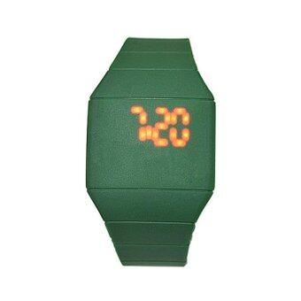นาฬิกาข้อมือนาฬิกาผู้หญิงเล่นกีฬากับ led (เขียวเข้ม)