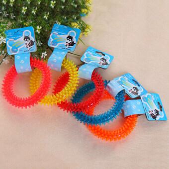 ไม่ใช่พิษสุนัขสัตว์เลี้ยงลูกสุนัขฟันฟันยางกัดของเล่นเล่นห่วงสุขภาพกัด
