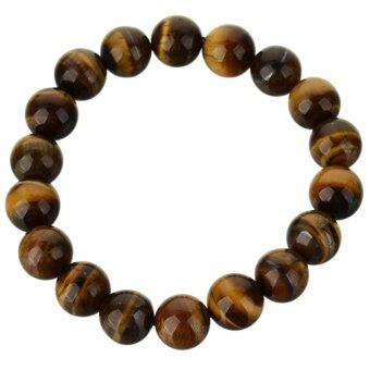 Harga Glamorous Tiger Eye Beaded Bracelet - Yellow - intl
