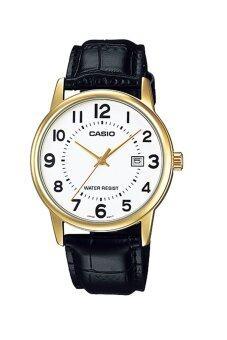 Casio Standard นาฬิกาข้อมือ สายหนัง รุ่น MTP-V002GL-7BUDF - สีขาว