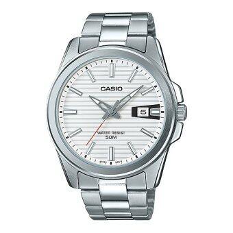 CASIO STANDARD นาฬิกาผู้ชาย สายแสตนเลส รุ่น MTP-E127D-7A