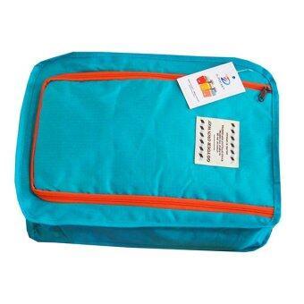 กระเป๋ารองเท้า D-pocket (สีน้ำฟ้า)