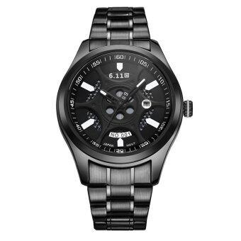 6.11 GD001 นาฬิกาข้อมือธุรกิจสำหรับผู้ชายพลังงานแสงอาทิตย์แบบประหยัดพลังงาน (สีดำ #2)