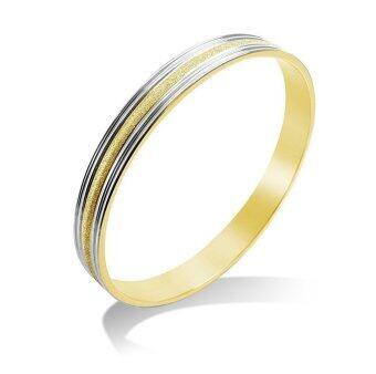 555jewelry กำไลสำหรับสุภาพสตรี รุ่น FSBG23-B1 ( Steel/Gold )