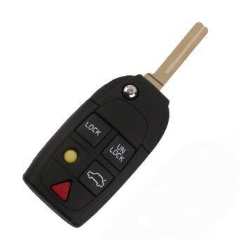 แทนที่ 5 ลูกกุญแจรีโมทกดปุ่มเคสสำหรับ VOLVO S60 S80 xC90