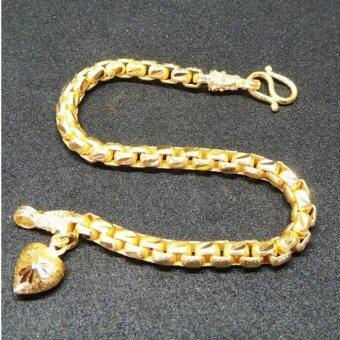 MONO Jewelry สร้อยข้อมือจากเศษทองแท้ลายห่วงคล้องพ่นทราย รุ่นน้ำหนัก ๑ บาท