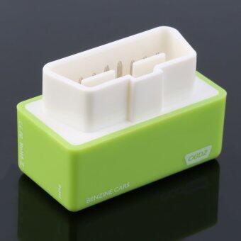 โอ้ OBD2 ปลั๊กขับ OBDII พลังงานปรับขึ้นแรงในกล่องสำหรับเบนซินรถสีเขียว