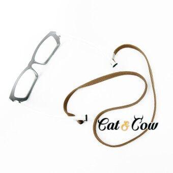 Cat & Cow รุ่น LC90-BR, #สายคล้องแว่นตา Eyewear Retainer สีนำตาล