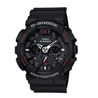 Casio G-Shock นาฬิกาข้อมือผู้ชาย สีดำ สายเรซิ่น รุ่น GA-120-1ADR