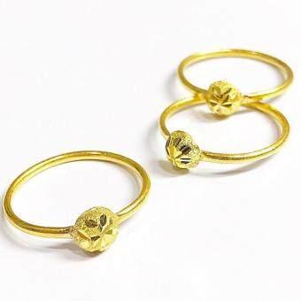KPTGOLD แหวนทองคำแท้ 96.5% ลายโมจิ น้ำหนัก 0.60 กรัม