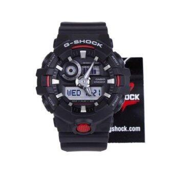 CASIO G-SHOCK รุ่น GA-700-1ADR (CMG) นาฬิกาข้อมือ สายเรซิ่น สีดำ แดง