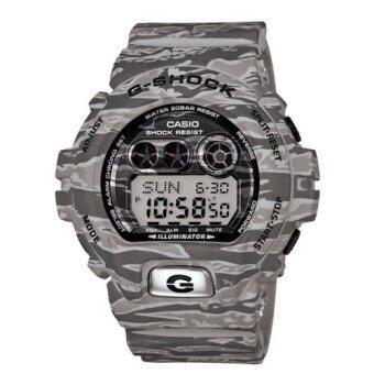 Casio G-shock นาฬิกาข้อมือผู้ชาย สีเทาลายพราง สายเรซิ่น รุ่น GD-X6900TC-8DR