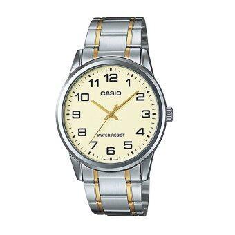 Casio Standard นาฬิกาข้อมือผู้ชาย รุ่น MTP-V001SG-9BUDF Silver (สีเงิน)
