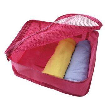 MONOPOLY กระเป๋าสำหรับเก็บเสื้อผ้า กันน้ำได้ ถือพกพาสะดวก (สีชมพู)