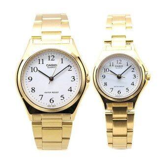 Casio SET นาฬิกาข้อมือ รุ่น MTP-1130N-7 และ LTP-1130N-7 - Gold