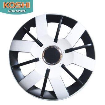 Koshi wheel cover ฝาครอบกระทะล้อ 14 นิ้ว ลาย 5067WB (4ฝา/ชุด) ขาว/ดำ