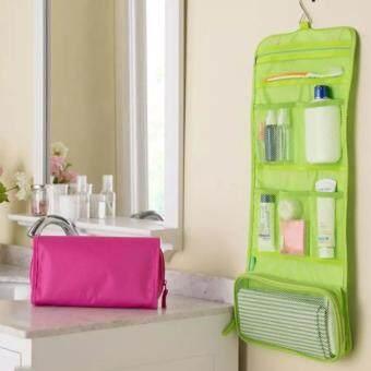 Tiger lucky กระเป๋าจัดระเบียบอุปกรณ์อาบน้ำและเครื่องสำอาง - สีเขียว 1pcs
