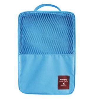Daisiกระเป๋าใส่รองเท้ากันน้ำได้ Waterproof Shoes Bag กระเป๋าแฟชั่น กระเป๋า ที่จัดระเบียบกระเป๋า กล่องอเนกประสงค์ Daisi0067-skyฟ้า