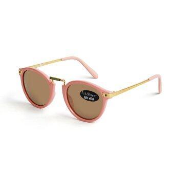 AJ Morgan Coolcat Sunglasses Pink, Gold Mirror Lens แว่นกันแดด สีชมพู เลนส์ปรอททอง