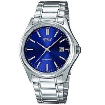 Casio Standard นาฬิกาข้อมือผู้ชาย สายสแตนเลส รุ่น MTP-1183A-2ADF - สีเงิน/น้ำเงิน