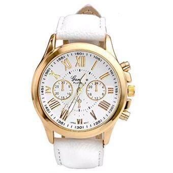 นาฬิกาข้อมือหนังผู้หญิงตัวเลขโรมันDialชั่วโมงอนาล็อกควอตซ์susenstone