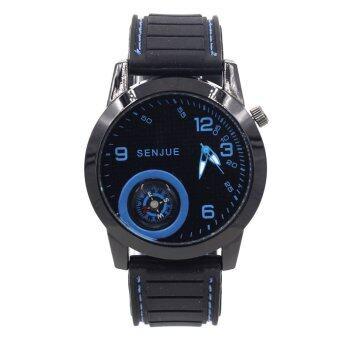 ADVANTURE นาฬิกาข้อมือผู้ชาย รุ่น เข็มทิศ - GP9206 (Black/Blue)