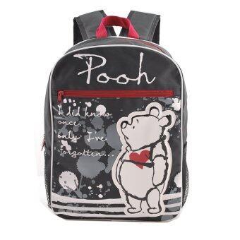 Disney Winnie and the Pooh กระเป๋าเป้ กระเป๋านักเรียน กระเป๋าสะพายหลัง (สีดำ)