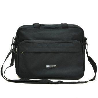 MilesKeeper กระเป๋าสะพาย สำหรับใส่เอกสารและโน๊ตบุ๊ค รุ่น sMSG02 (Black)