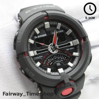 D - ZINER นาฬิกาข้อมือแนว SPORT ชาย 2 ระบบ(ANALOG&DIGITAL)กันนํ้า100% พร้อมกล่อง