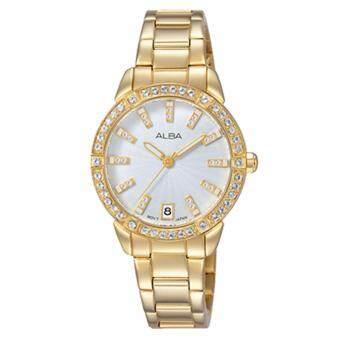 Alba นาฬิกาข้อมือผู้หญิง สายสแตนเลส รุ่น AG8H02X1 (สีทอง)