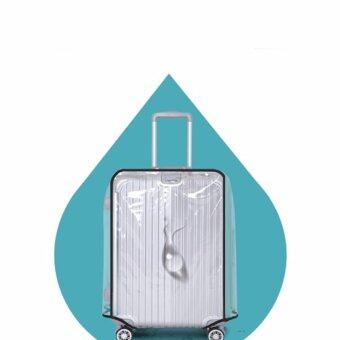 DC พลาสติกใสคลุมกระเป๋าเดินทาง 20-22 นิ้ว กันเปื้อน กันริ้วรอยและกันน้ำ PVC Cover