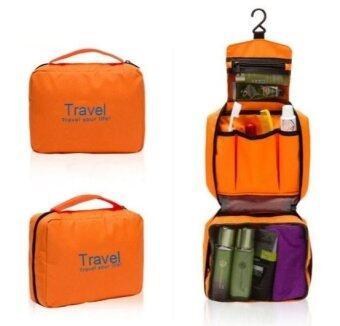 TravelGear24 กระเป๋าจัดระเบียบอุปกรณ์อาบน้ำและเครื่องสำอาง Travel Toiletry Bag (Orange/ส้ม)