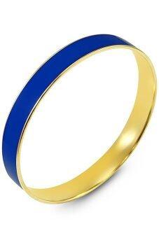 555jewelry กำไลสำหรับสุภาพสตรี รุ่น FSBG130-3 ( สีน้ำเงิน )
