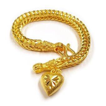 MONO JEWELRYสร้อยข้อมือจากเศษทองแท้ ลายสี่เสา น้ำหนัก ๓ บาท