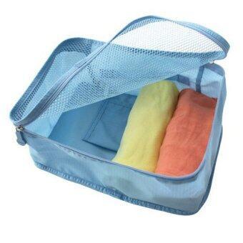 MONOPOLY กระเป๋าสำหรับเก็บเสื้อผ้า กันน้ำได้ ถือพกพาสะดวก (สีฟ้า)