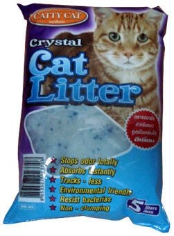 Harga ทรายแมว Catty cat Crystal 5 lite(cat litter)