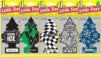 Little Trees แผ่นน้ำหอมปรับอากาศ รูปต้นไม้ คละกลิ่น 5 ชิ้น เซต 1